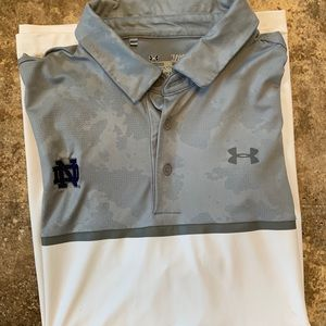 Under Armour Large Notre Dame Fighting Irish Polo